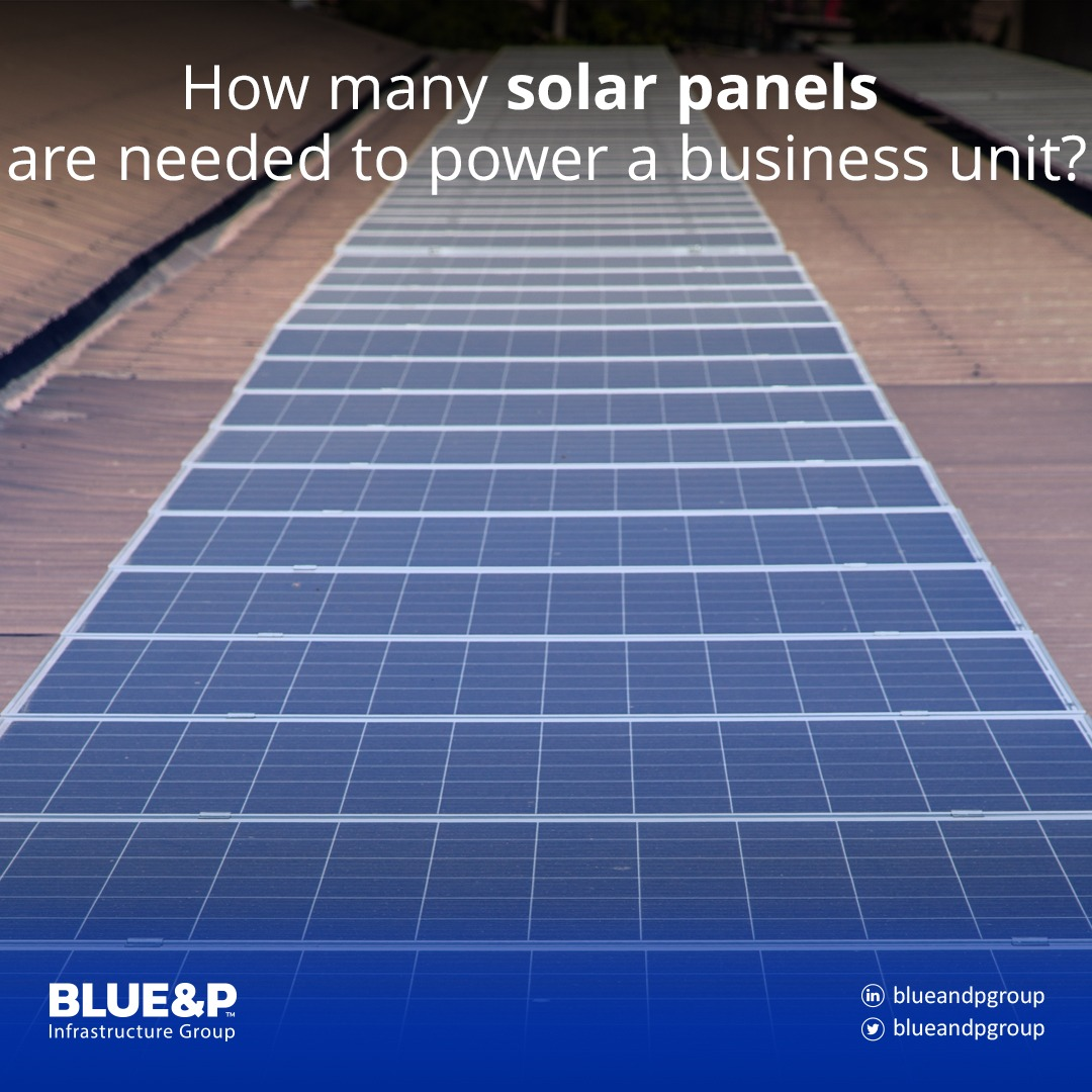 Estimate the number of solar panels required
