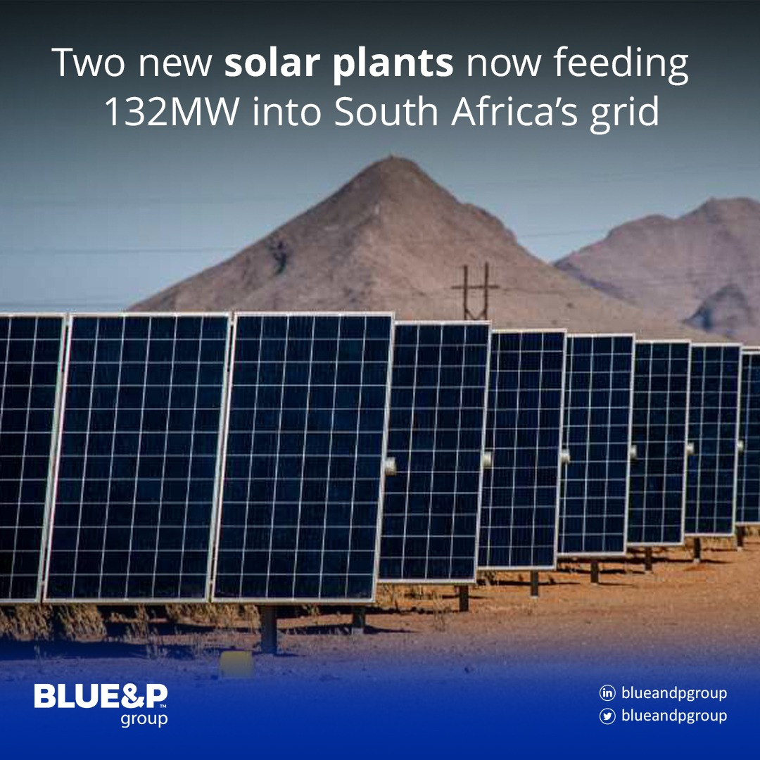 Two new solar plants now feeding 132MW into South Africa's grid